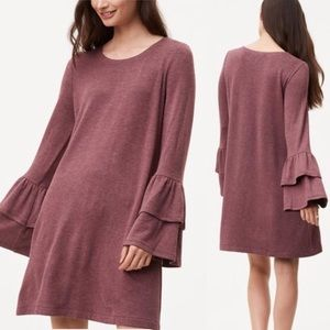LOFT Ann Taylor bell sleeve loosely fitted dress